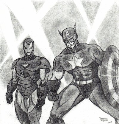 CAPTAIN AMERICA & IRON MAN