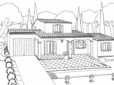 Maison blog dessins a benfares for Une maison dessin