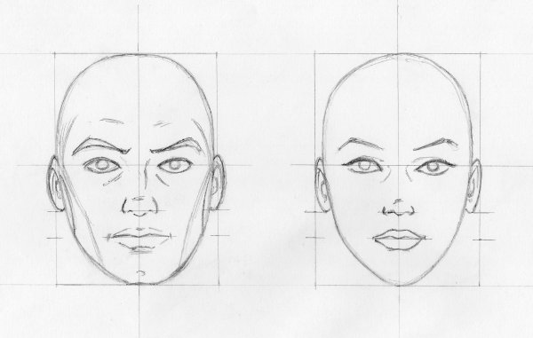 Top CROQUIS VISAGES DE FACE - BLOG DESSINS : A. BENFARES TV02