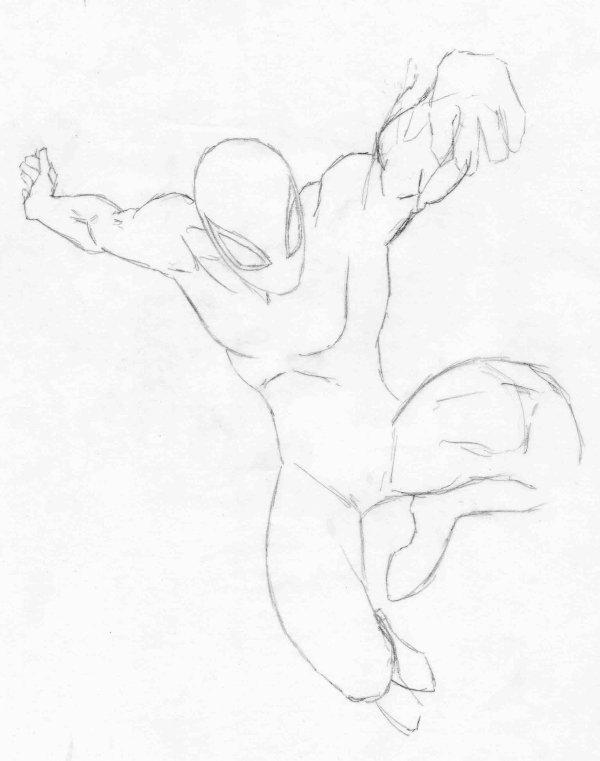CROQUIS SPIDER-MAN