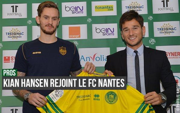 Nantes recrute K.Hansen (Esbjerg) pour la saison prochaine
