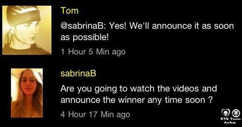 réponse Tom  btk app