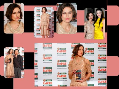 Keira aux Jameson Empire Awards !