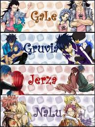 Les couples fairy tail ♥