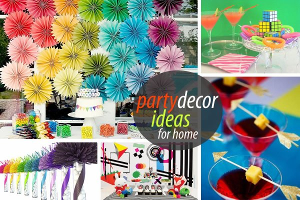Feature a variety of unique party décor theme