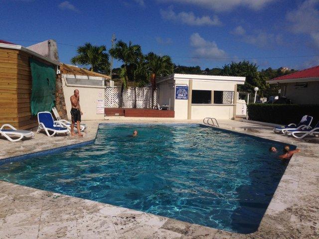 Baignade à la piscine