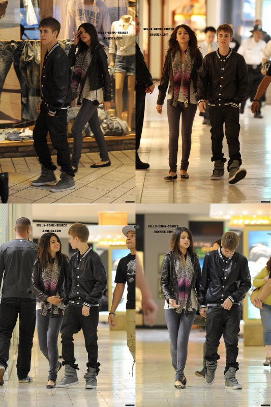 Selena & Justin au centre commercial + Selena et Justin au restaurant
