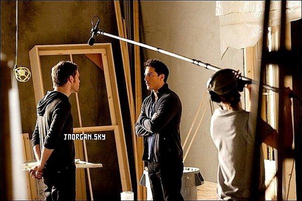Photo du tournage de la saison 3 de TVD