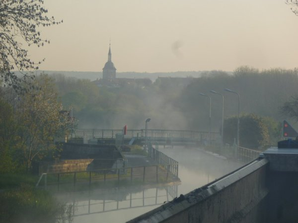 pont-canal et écluse de Rouvroy