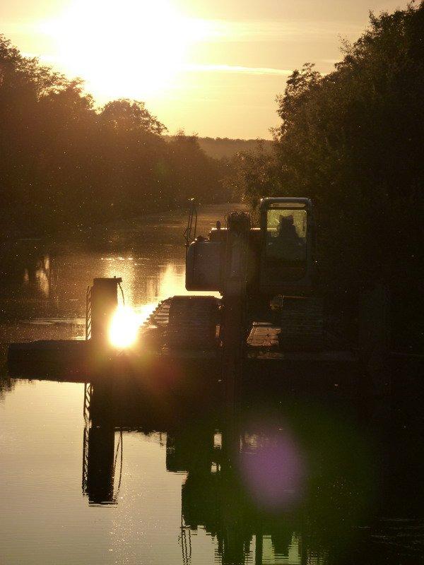 préparation du ponton, St.Aubin (89)