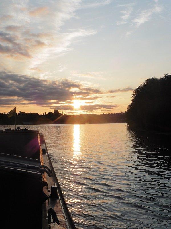 navigation au lever de soleil