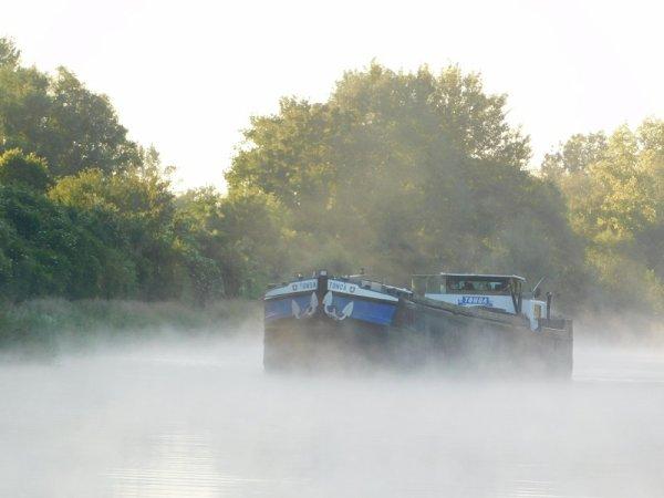 brumes sur le Canal du Nord