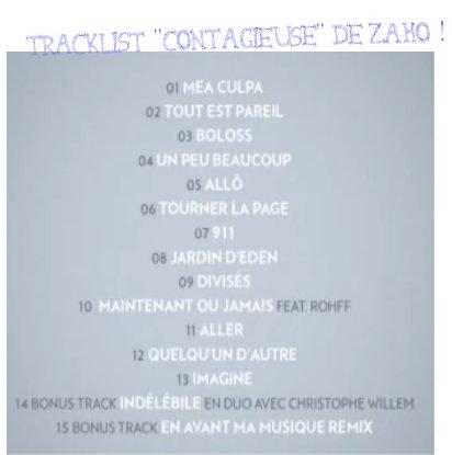 album de zaho contagieuse