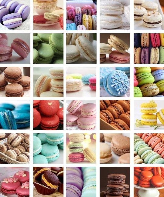 Planche d'icone: Thème Macarons