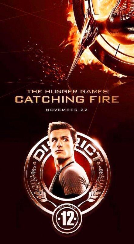 """Deux nouveaux poster de Peeta Mellark """"Catching Fire""""."""