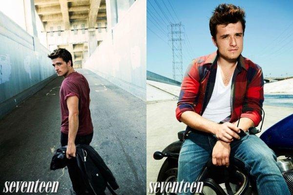 """Nouvelles photos de Josh pour le """"Seventeen Magazine""""."""