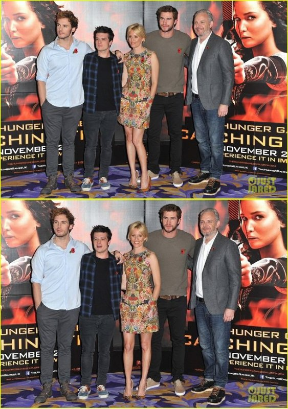 "Photocall de ""Catching Fire"",à Londres,le 11 novembre 2013."