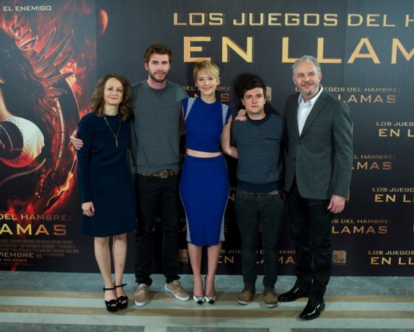 "Photocall ""Catching Fire"",à Madrid,Spain,le 13 novembre 2013."