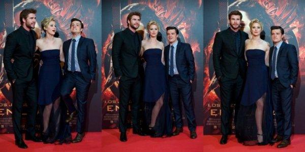"""AP de """"Catching Fire"""",à Madrid,Spain,le 13 novembre 2013."""