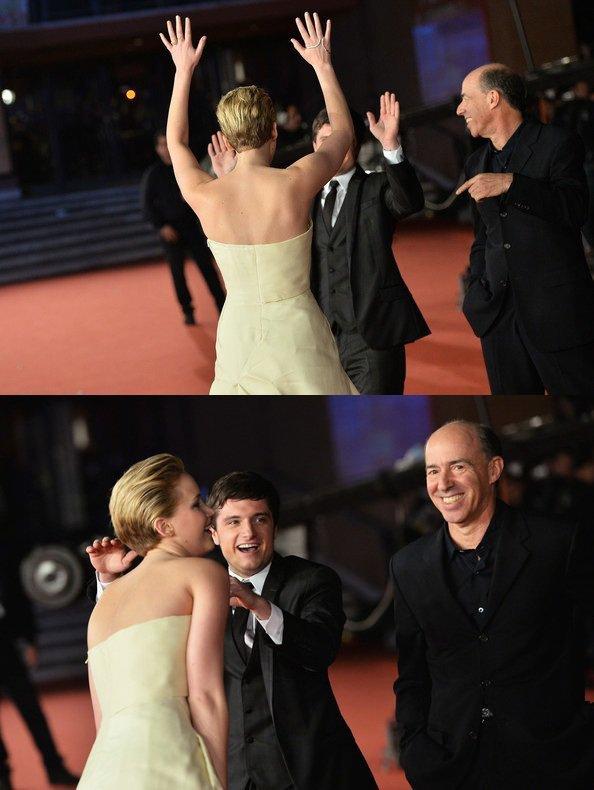 """AP de """"Catching Fire"""",à Rome,le 14 novembre 2013."""