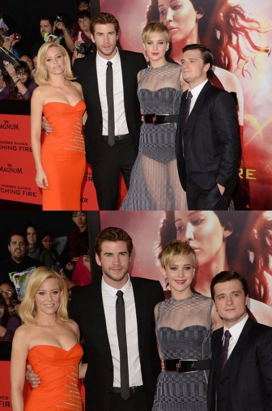 "AP de ""Catching Fire"",à Los Angeles,le 18 novembre 2013."