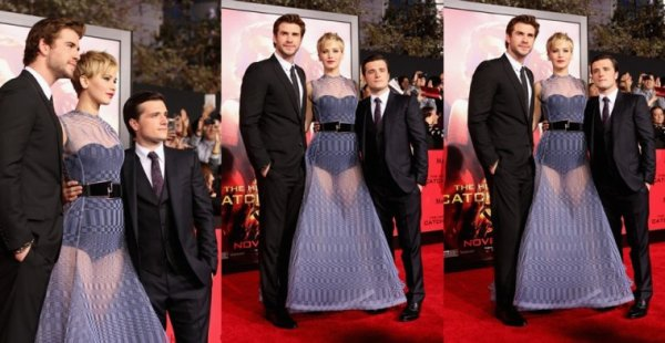 "AP de ""Catching Fire"",à Paris,le 18 novembre 2013."