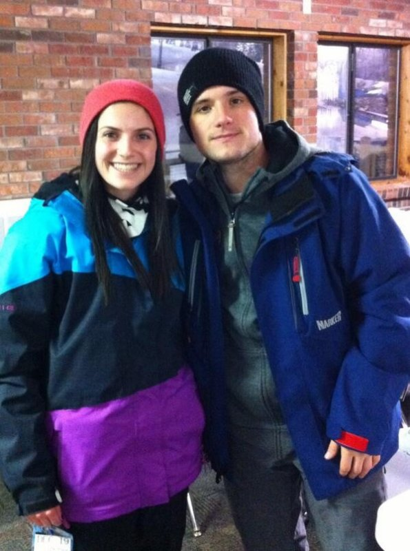 Photo de Josh avec une fan,prise le 26 décembre 2013.