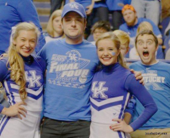"""Nouvelle photo de Josh au """"College Basketball Games"""",Louisville vs Kentucky,prise le 28 décembre 2013."""