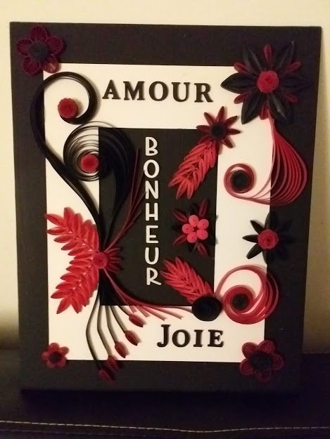 tableau quilling 15 euros