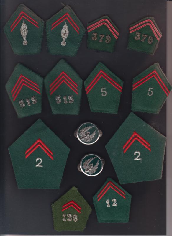 Pattes de col et insignes de col du TRAIN