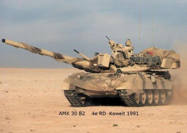 Les AMX 30 de la Division Daguet au Koweit  1991  Guerre du Golfe
