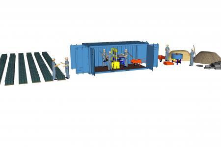 Seneffe: Roosens Bétons va construire des micro-usines clé sur porte ...en conteneurs