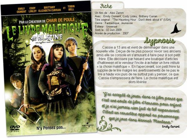 _28.10.2012_ -  Le livre maléfique             Tu cherche un film à regarder pour Halloween ? Je te propose de regarder « the haunting hour : Don't Think About It », un ancien film d'Emily.