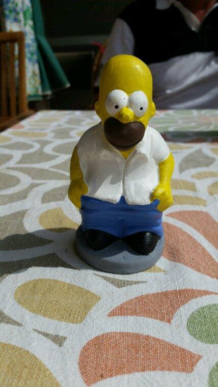 Statuette homer ( BARCELONE )