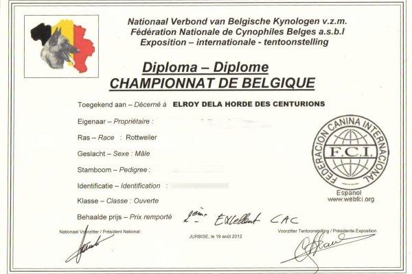 diplome championnat de belgique (jurbise)