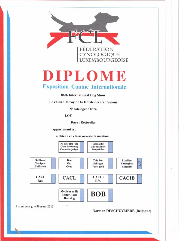 DIPLOME EXPOSITION LUXEMBOURG