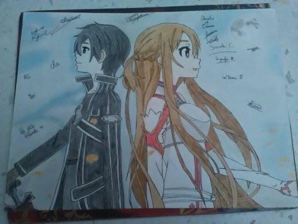 Dessin de Kirito et Asuna