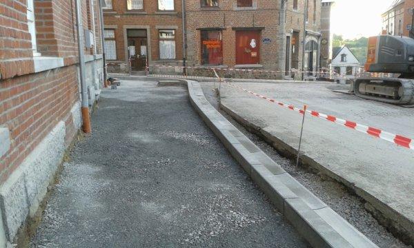 La rue en travaux