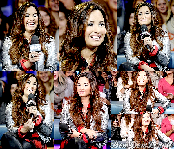 . ● 13/10/2011 - Demi arrivant dans les studios des Much Music et ensuite sur le plateau New.Music.Live . On remarque un changement de couleur capillaire , tu aimes ?