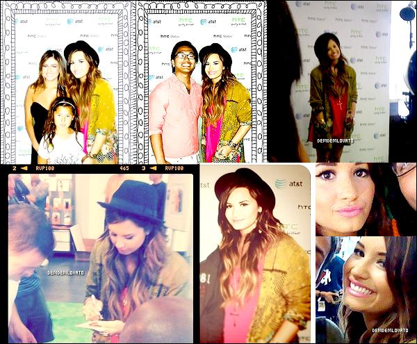 . 25/8/2011 - Demi était présente à un meet&greet origanisé par AT&T and HTC Status à Los Angeles.  .