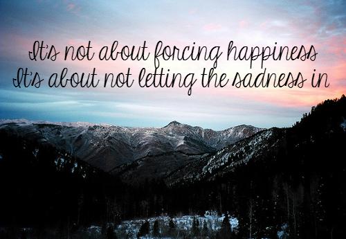 On reconnait le bonheur au bruit qu'il fait quand il s'en va.