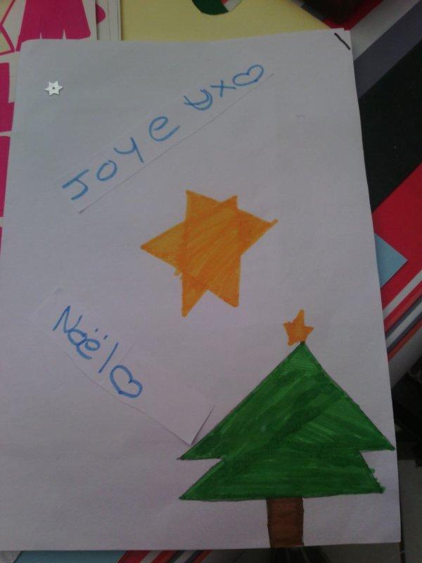 Les cartes postal que mes petite filles on fait