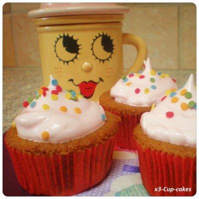 Cupcakes à la framboise