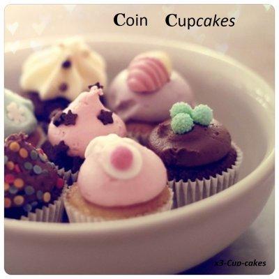 Coin cupcakes