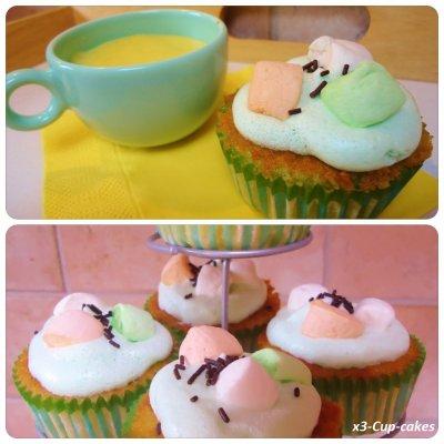 ..........................Cupcakes pommes caramélisées et marshmallows