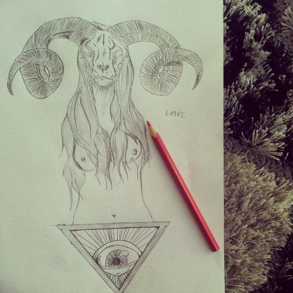 Ca donne ça quand je dessine en écoutant du Metal: