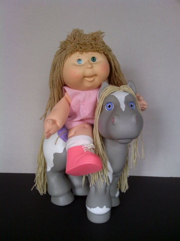 Cabbage Patch ( tête de choux) et son cheval