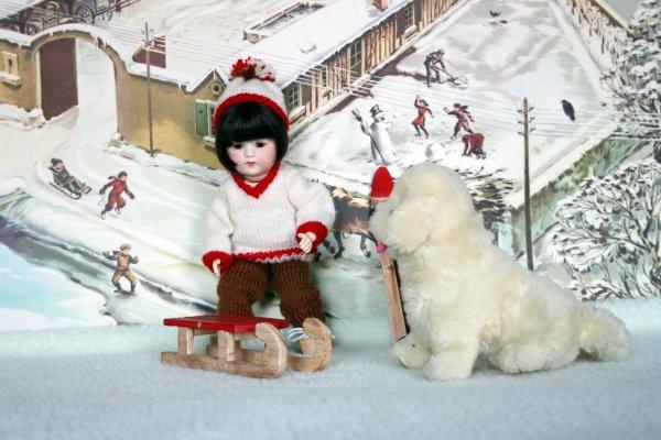Loulotte et Belle à la neige