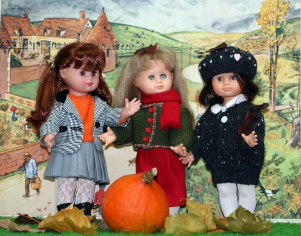 C'est   l'Automne Emeline , Emilie  et Emma en ballade