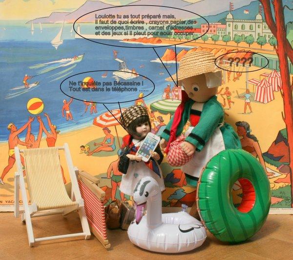 Bécassine et Loulotte se préparent à partir en vacances